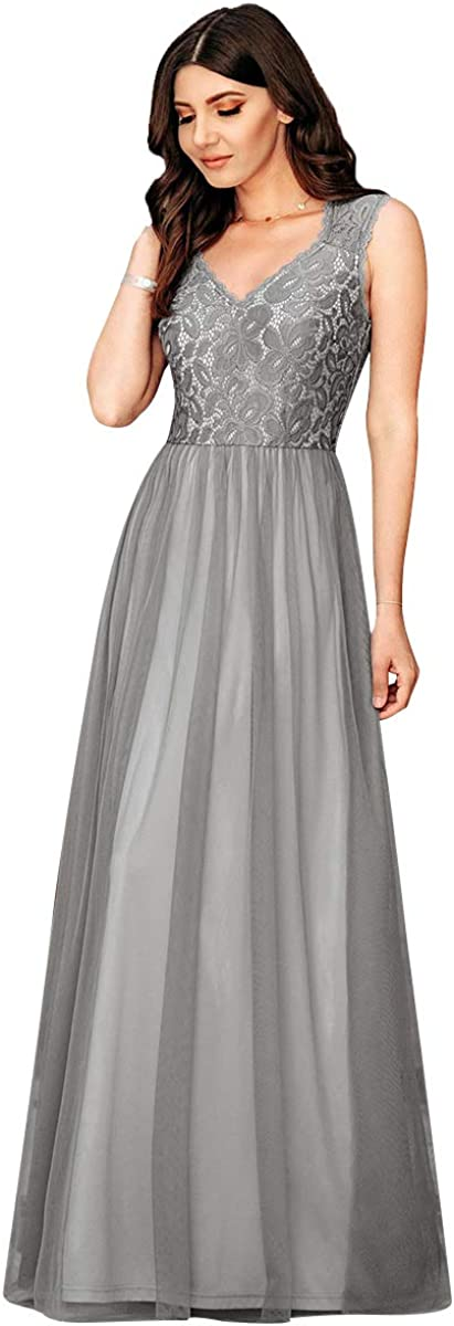 Ever-Pretty Vestito da Festa Donna Lungo Linea ad a 07509