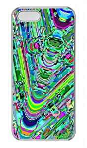 Abstract Painting Protector PC Hard Material Transparent Cover Case For iPhone 5 5S