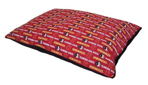 Pet Goods 30-Inch by 36-Inch  Collegiate Pillow Pet Bed, Florida State University, My Pet Supplies
