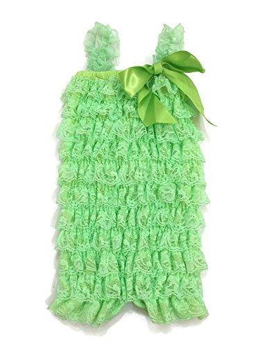 Rush Dance Baby/ Toddler Girls Layered Lace Ruffle Petti Romper (Large (18-26M), (Shamrock Mint)