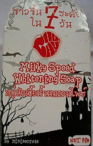 3x70g Milky Speed Vampire Super Whitening Soap. White up to 7 Levels in 7 Days.