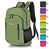 Bekahizar 20L Ultra Lightweight Backpack Foldable Hiking Daypack Rucksack Water Resistant Travel Day Bag for Men Women Kids Outdoor Camping Mountaineering Walking Cycling Climbing (Green)