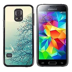 LECELL--Funda protectora / Cubierta / Piel For Samsung Galaxy S5 Mini, SM-G800, NOT S5 REGULAR! -- Lake Tree View Mist Magical --