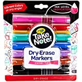 Crayola Low Odor Dry Erase Markers, Chisel Tip, Assorted Colors, 12Count
