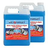 Wet and Forget Moss, Mold, Mildew & Algae Stain Remover.75 Gallon Concentrate Makes 4.5 Gallons - 2 Pack