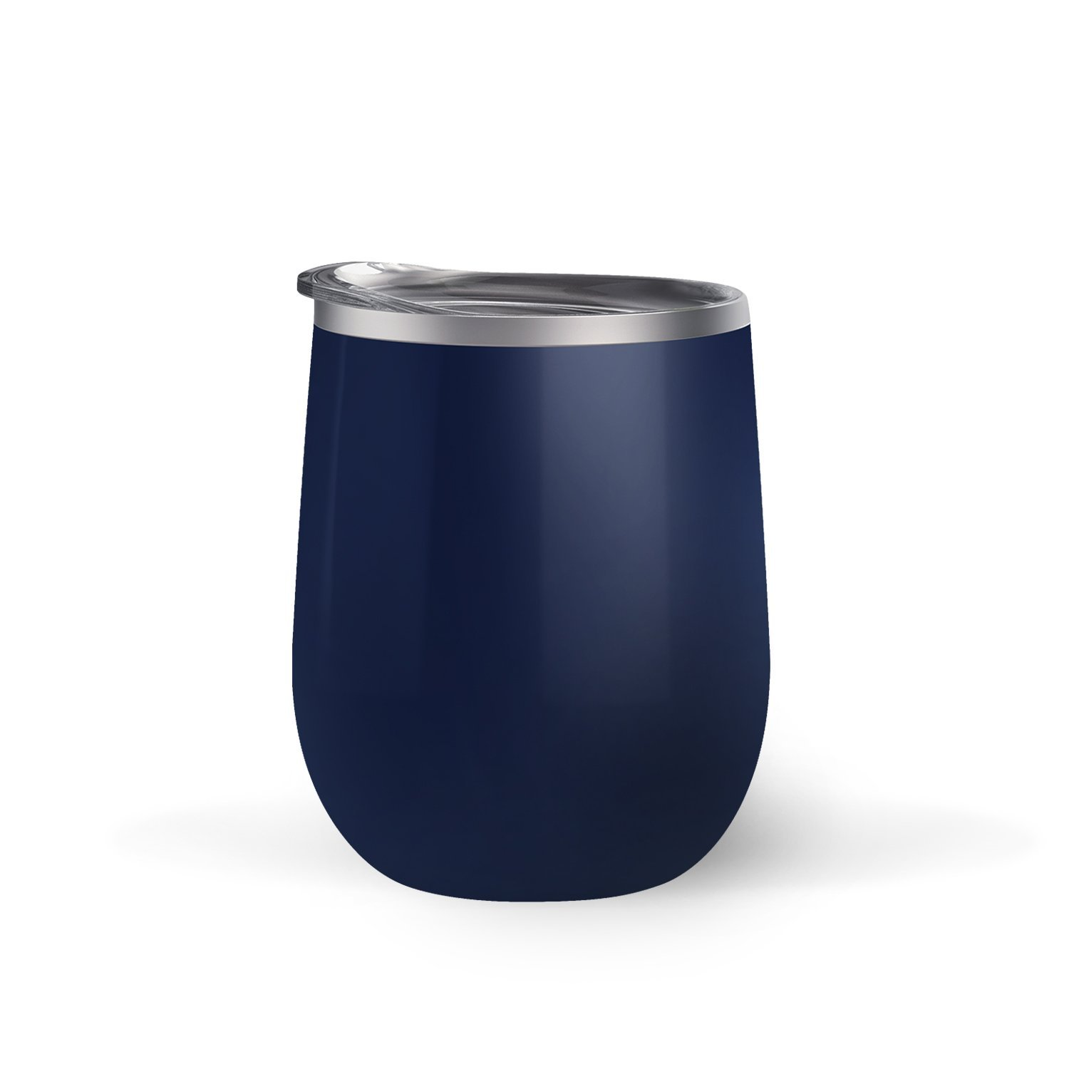 Maars Bev Steel Stemless Wine Glass Tumbler, 12 oz | Double Wall Vaccum Insulation - Midnight Blue by Maars® Drinkware (Image #3)