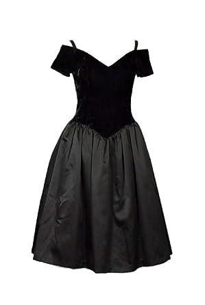15030b490f1 LEJY Off Shoulder Vintage 80s Prom Dresses for Women Short Homecoming  Dresses 2018 Black 0