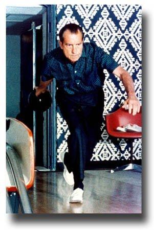 Nixon Bowling Poster - 11 x 17 Big Lebowski Dude President Richard