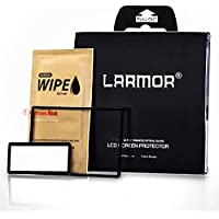 GGS LARMOR Screen Protector for Canon 5D Mark IV/Canon 5D MK IV/5DMK4/5D4, from Tempered Glass Foil, Self-Adhesive, 4th Generation - with Top Screen Protector