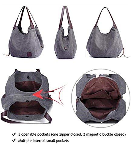 Shoulder Ladies Casual Red Hobo Purses Handbags Canvas Bags Shopping Totes Women's Cotton Daily qYwUIYA