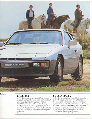 Amazon.com: 1982 Porsche 924 924 Turbo 944 911 911SC 930 Turbo 928: Entertainment Collectibles