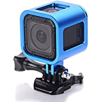 Aluminum Frame for GoPro Hero4 Session Hero 5 Session,CNC Aluminum Alloy Solid Protective Case Skeleton with Screw and Wrench for Gopro Hero 4 hero5 Session Blue