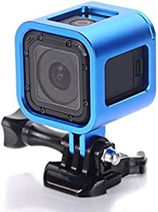 Black PROTIVECASE For Gopro accessories Housing Shell CNC Aluminum Alloy Protective Cage with Insurance Back Cover for GoPro HERO5 Session //HERO4 Session//HERO Session Color : Black