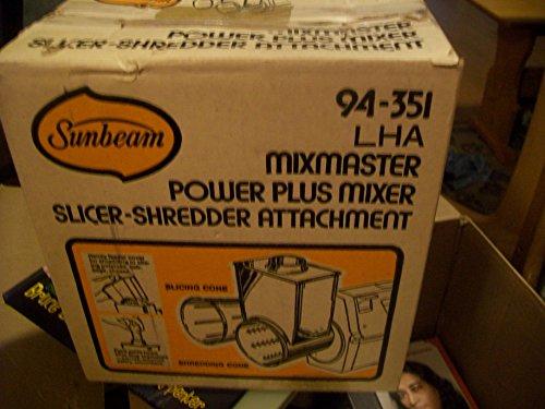 - Sunbeam Mixmaster Mixer Power Plus Mixer Slicer-Shredded Attachment #94-351
