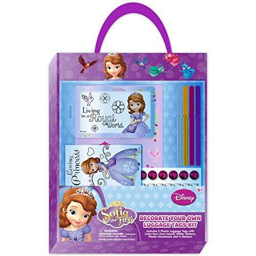 (National Design Sofia The First Decorate Your Own Luggage Tags)