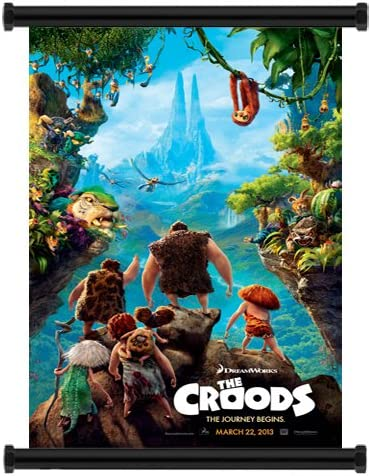 Amazon Com The Croods 2013 Movie Fabric Wall Scroll Poster 16 X 23 Inches Prints Posters Prints