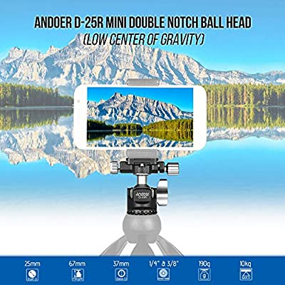 Load 5kg 87cm Andoer K521S Portable 5-Section Extendable Aluminum Alloy Camera Tripod with Mini Ball Head Low Center of Gravity 1//4 Screw Mount for Canon Nikon Sony DSLR ILDC Cameras Max