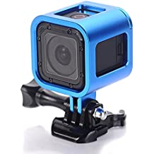 Aluminum Frame for GoPro Hero4 Session hero 5 session ,CNC Aluminum Alloy Solid Protective Case Skeleton with Screw and Wrench for Gopro Hero 4 hero5 Session Blue