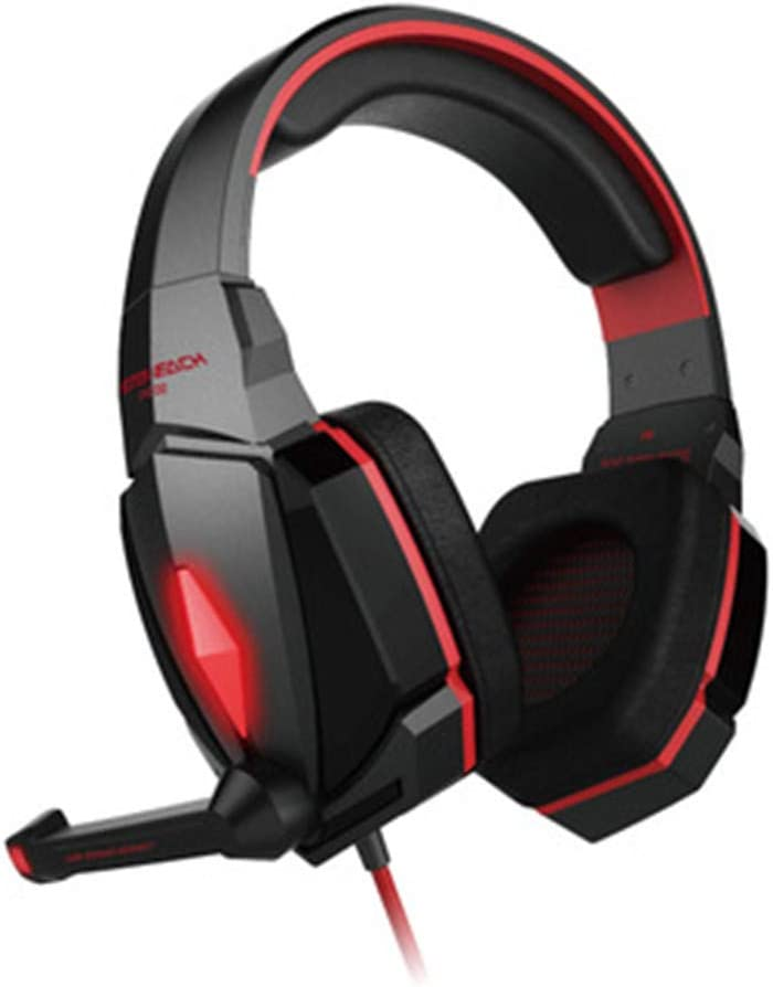 Stereo Gaming Headphone Headset Headband with Mic Volume Control LED Light for PC Gamer