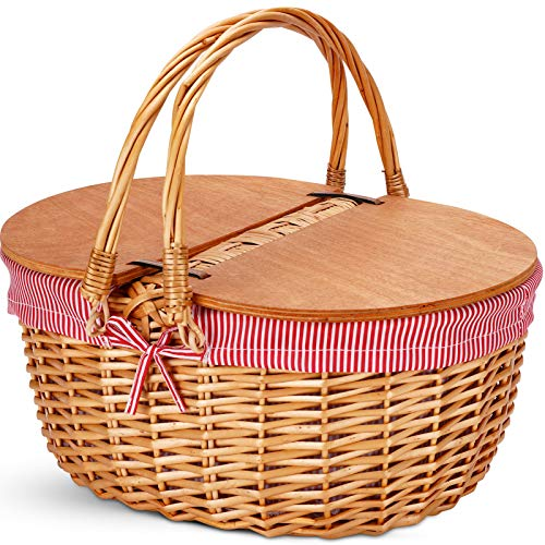 Wicker Picnic Basket with