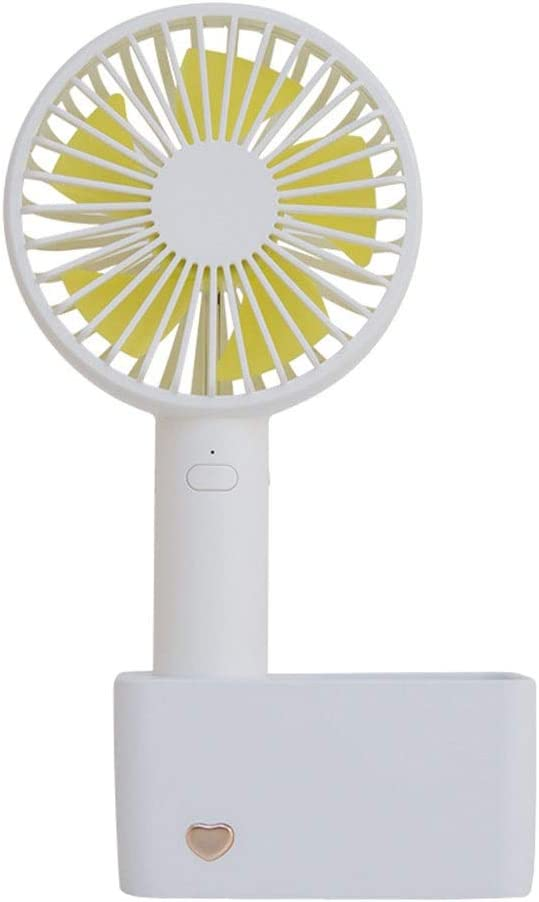 Rechargeable 1000 mAh Battery Travel Camping 3 Speed 3 Colors Strong Wind in The Home Office Quiet Operation Dygzh Mini Desktop Personal Fan Handheld Mini Fan Detachable Base
