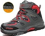 Kids Hiking Shoes Walking Snow Boots Antiskid Steel Buckle Sole Winter Outdoor Climbing Cotton Sneaker