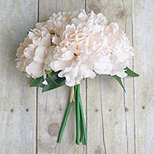 BalsaCircle 11-Inch Silk Artificial Peony Flowers Bouquet - Wedding Party Home Event Centerpieces Decorations Supplies Supplies 43