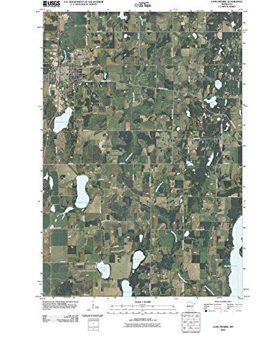 Minnesota Maps | 2010 Long Prairie, MN USGS Historical Topographic Aerial Map |Fine Art Cartography Reproduction Print