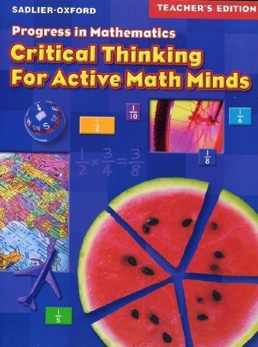 Progress in Mathematics Teacher Edition (critical thinking for active math minds, grade 5) (Progress In Mathematics Grade 5 Teachers Edition)