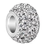 Jan-Dec Birthstone Charms Swarovski Elements Crystal Silver Plated Bead Fit Pandora Chamilia Bracelet