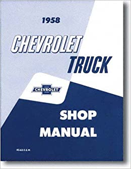 1969 olds 1958 chevy chevrolet truck repair shop service manual 58  (with decal on chevy starter wiring