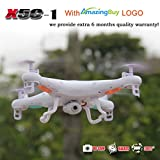 Amazingbuy - Syma X5C-1 2.4Ghz 6-Axis Gyro RC Quadcopter Drone UAV RTF UFO with HD Camera -Upgraded Version - 4 additional Propellers + 4GB Memory Card + Card Reader + Total 3 Batteries