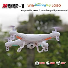 100% Syma Original Product ! With Amazingbuy LOGO,we will provide extra 6 months quality warranty! Syma X5C-1 Explorers 2.4G 4CH High Speed RC Quadcopter Drone With HD Camera  Function:With Camera,Up/down, left/ right,forward/backward ,2.4G ,...