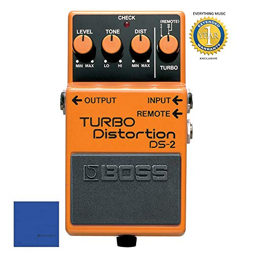 Boss DS-2 Turbo Distortion Pedal with 1 Year Free Extended - Boss 5l Fs Footswitch