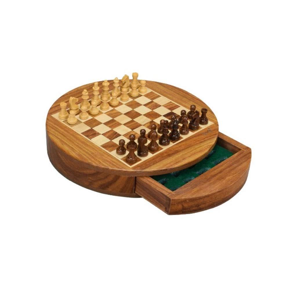a la venta Ajedrez internacional, juego de ajedrez de madera magnético rojoondo, rojoondo, rojoondo, entrenamiento de moda exquisito   juego de ajedrez de competición (marrón, 18.5  3 cm) ( Color   marrón , Talla   Small )  barato en alta calidad