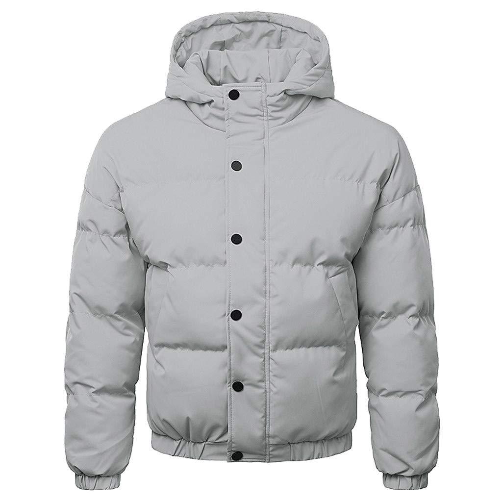 Beikoard_Hombre Manga Larga,Abrigo de otoño e Invierno para Hombre Cálido Traje de algodón Grueso con Capucha Abrigo