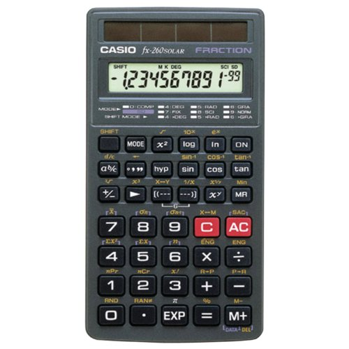 Casio fx-260 SOLAR Scientific Calculator, Black