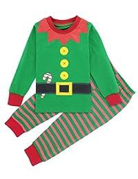 Mombebe Baby Boys' Green Elf Pajamas Sets Sleepwear