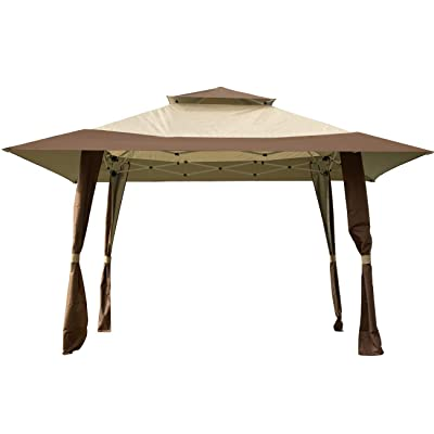 Sunnyglade 13Ft x 13Ft Pop-Up Canopy Gazebo Outdoor Patio Gazebo Tent Great for Providing Extra Shade for Your Yard, Patio, Garden, Outdoor, Party or BBQ : Garden & Outdoor