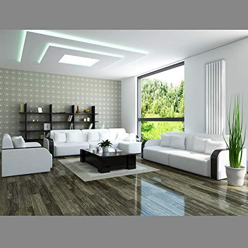 ECD Germany Stella Design Radiador de panel 260 x 1600 mm Calefacci/ón Central Agua Radiador moderno para ba/ño Blanco