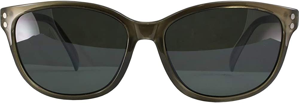 Sundog KITT Sunglasses Crystal Grey Frame w//Smoke Polarized Lens 253201