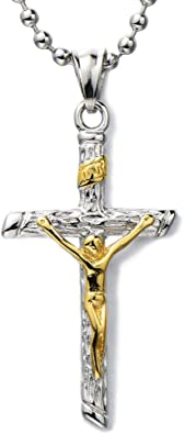 collier christ homme