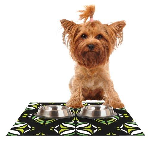 KESS InHouse Miranda MOL Retro Train Feeding Mat for Pet Bowl, 18 by - Retro Dog Placemat