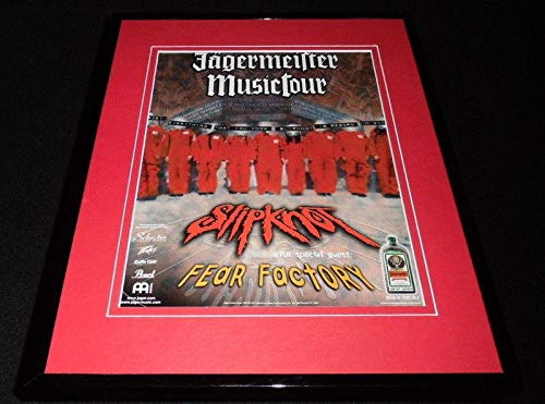 Slipknot 2004 Jagermeister Music Tour Framed 11x14 ORIGINAL Advertisement