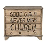 Traditional Styled Hand Painted Lyrics Wood Chest With Finish DS-D153-016