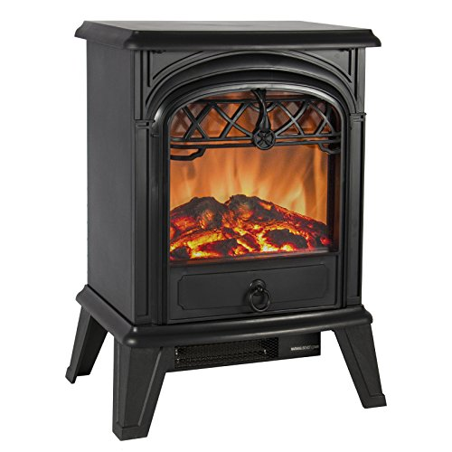 LTL Against Electric Fireplace Heater Fire 1500W Stove Flame Wood Log Portable