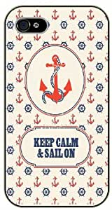 iPhone 6 Case Keep calm and sail on, anchor - black plastic case / Keep calm, funny, quotes By SHURELOCK TM