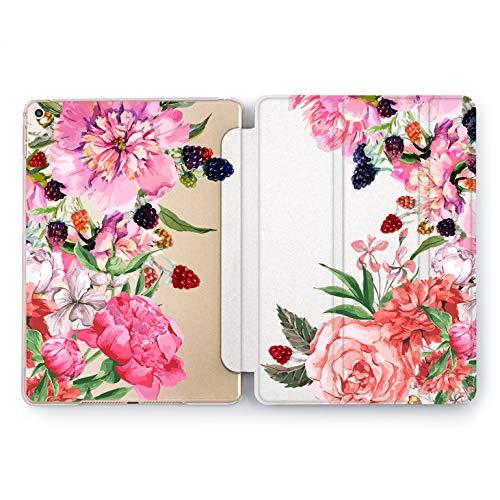 - Wonder Wild Flower and Raspberries Apple iPad Pro Case 9.7 11 inch Mini 1 2 3 4 Air 2 10.5 12.9 2018 2017 Design 5th 6th Gen Clear Smart Hard Cover Berries Rose Peonies Bud Bloom Girly Bouquet Juicy
