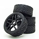 Wheel Rim&Rubber Tires RC 1:8 Off-Road Tyre 17mm Hexagonal Joint Pack Of 4 Black