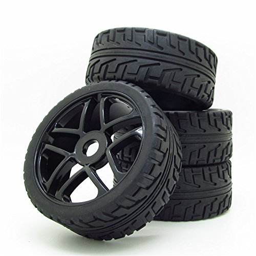 es RC 1:8 Off-Road Tyre 17mm Hexagonal Joint Pack Of 4 Black (Rc Wheels Tires)